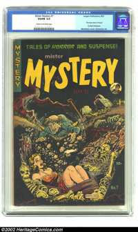 "Mister Mystery #7 (Aragon Magazines, Inc., 1952) CGC VG/FN 5.0 Cream to off-white pages. ""The Brain Bats of Venus&q..."