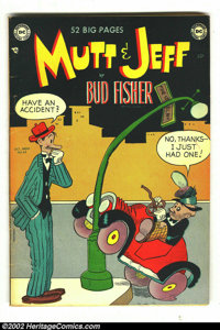 Mutt and Jeff Lot (DC, 1950-1956) Average Grade FN 6.0. Lot of 29 comics between issue #48 and #90 inclusive. Average gr...