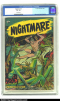 Golden Age (1938-1955):Horror, Nightmare #13 (St. John, 1954) CGC VF+ 8.5 Off-white pages. MattBaker did the art chores on this surreal cover. Overstreet ...