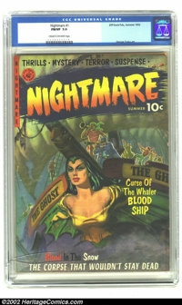 Nightmare #1 (Ziff-Davis, 1952) CGC FN/VF 7.0 Cream to off-white pages. George Tuska and Kinstler art. Overstreet 2002 F...