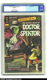 Occult Files of Doctor Spektor #1 (Gold Key, 1973) CGC NM- 9.2 Off-white to White pages. Introduction of Doctor Adam Spe...