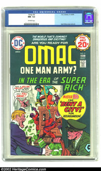 Omac #2 (DC, 1974) CGC NM- 9.2 Off-white pages. Jack Kirby writes and draws his Fourth World creation - Omac the One Man...