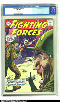 Our Fighting Forces #84 (DC, 1964) CGC VF+ 8.5 Off-white pages. Gunner and Sarge are trapped in a mine field by a Japane...