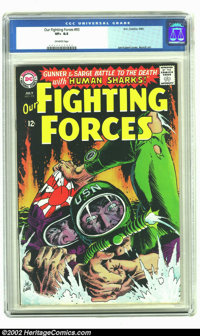 Our Fighting Forces #93 (DC, 1965) CGC VF+ 8.5 Off-white pages. Joe Kubert depicts a USN scuba diver battling a Japanese...