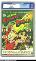 Golden Age (1938-1955):Religious, Picture Stories from the Bible #3 Gaines File pedigree CertificateMissing (EC, 1943) CGC NM+ 9.6 Off-white pages. Stories f...