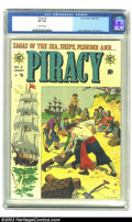 Golden Age (1938-1955):Adventure, Piracy #2 (EC, 1955) CGC VF 8.0 Off-white pages. Jack Davis, Al Williamson and Wally Wood illustrate tales of piracy on the ...
