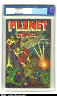 Planet Comics #68 (Fiction House, 1952) CGC VF- 7.5 Cream to off-white pages. This issue has plenty of action, plenty of...