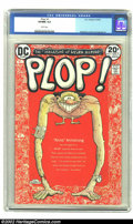 Modern Age (1980-Present):Humor, Plop #1 (DC, 1973) CGC VF/NM 9.0 White pages. Wrightson, Evans& Aragones art. Overstreet 2002 NM 9.4 value = $30....