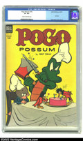 Golden Age (1938-1955):Funny Animal, Pogo Possum #16 (Dell, 1954) CGC VF 8.0 Cream to Off-white pages. Astunning copy of one of the greatest strips of all time....