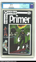 Modern Age (1980-Present):Superhero, Primer #2 (Comico, 1982) CGC NM- 9.2 Off-white to white pages. First appearence of Grendel. Overstreet 2002 NM 9.4 value = $...