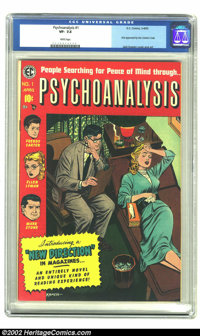 Psychoanalysis #1 (EC, 1955) CGC VF- 7.5 White pages. Jack Kamen delves into the minds of Freddy Carter, Ellen Lyman and...