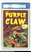 Golden Age (1938-1955):Horror, Purple Claw #1 (Minoan Publishing Co., 1953) CGC FN/VF 7.0 Cream tooff-white pages. Great pre-code horror. Overstreet 2002 ...