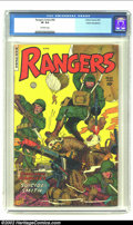 Golden Age (1938-1955):War, Rangers Comics #66 Cosmic Aeroplane pedigree (Fiction House, 1952)CGC VF 8.0 Off-white pages. Overstreet 2002 VF 8.0 value ...