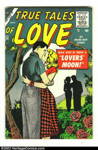 Romance Comics Group Lot of 9 (various publishers, 1950s) Condition: averages FN+. This is an incredible lot of rarely s...