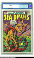 Silver Age (1956-1969):Adventure, Sea Devils #18 (DC, 1964) CGC NM+ 9.6 Off-white to White pages. Howard Purcell provides the art for this adventure of the Se...