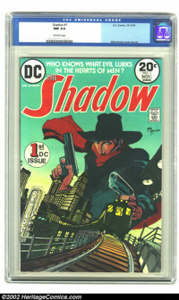 The Shadow #1 (DC, 1973) CGC NM 9.4 Off-white pages. Kaluta did the gorgeous stylized artwork in this high-grade issue...