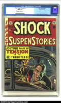 Golden Age (1938-1955):Horror, Shock SuspenStories #4 Gaines File pedigree Certificate Missing(EC, 1952) CGC NM+ 9.6 Off-white to white pages. Wally Wood ...