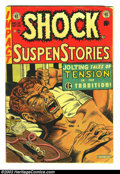 "Golden Age (1938-1955):Horror, Shock SuspenStories #12 (EC, 1953) Condition: VG-. ""The Monkey""classic heroin junkie cover. Anti-drug propaganda issue. Nob..."