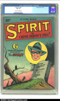 Golden Age (1938-1955):Crime, The Spirit nn (#2) (Quality, 1945) CGC VF- 7.5 Cream to off-white pages. Overstreet 2002 VF 8.0 value = $257. ...