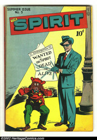 The Spirit #5 (Quality, 1946) Condition: VG/FN. Classic cover image. Overstreet 2002 GD 2.0 value = $31; FN 6.0 value =...