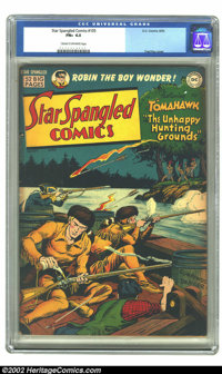 Star Spangled Comics #105 (DC, 1950) CGC FN+ 6.5 Cream to off-white pages. Fred Ray cover. Overstreet 2002 FN 6.0 value...