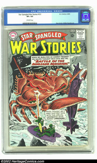 Star Spangled War Stories #107 (DC, 1963) CGC VF+ 8.5 Off-white pages. Highest CGC graded copy. Giant Crab cover with di...
