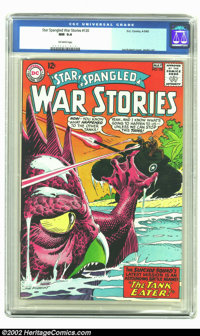 Star Spangled War Stories #120 (DC, 1965) CGC NM 9.4 Off-white pages. Andru and Kubert art in this dinosaur themed issue...