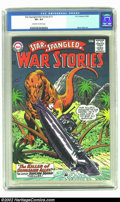 Silver Age (1956-1969):War, Star Spangled War Stories #121 (DC, 1965) CGC VF+ 8.5 Off-white to white pages. Gene Colan art in this dinosaur themed issue...