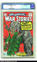 Silver Age (1956-1969):War, Star Spangled War Stories #125 (DC, 1966) CGC NM 9.4 Off-white pages. Kubert and Ross Andru art in this dinosaur themed issu...