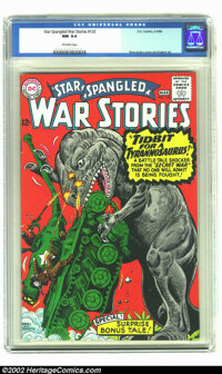 Star Spangled War Stories #125 (DC, 1966) CGC NM 9.4 Off-white pages. Kubert and Ross Andru art in this dinosaur themed...