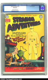 Strange Adventures #5 (DC, 1951) CGC VF+ 8.5 Cream to off-white pages. This classic cover has beautiful bright colors. O...