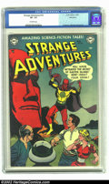 Golden Age (1938-1955):Science Fiction, Strange Adventures #16 Bethlehem pedigree (DC, 1952) CGC VF- 7.5Off-white pages. Anderson, Infantino and Kane art. Overstre...