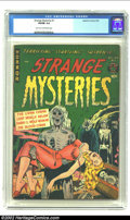 Golden Age (1938-1955):Horror, Strange Mysteries #1 (Superior, 1951) CGC VG/FN 5.0 Light tan tooff-white pages. Kamenish art. Overstreet 2002 GD 2.0 value...
