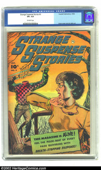Strange Suspense Stories #3 (Charlton, 1952) CGC VF+ 8.5 Off-white pages. This issue has George Evans and Bernard Baily...