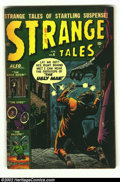 Golden Age (1938-1955):Horror, Strange Tales #6 (Marvel, 1952) Condition: GD/VG. Fantastic RussHeath cover on this classic Atlas. Overstreet 2002 GD 2.0 v...