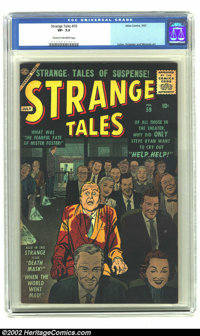 Strange Tales #59 (Marvel) CGC VF- 7.5 Cream to off-white pages. This cover defines the term psychological terror. Overs...