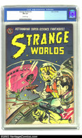 Golden Age (1938-1955):Science Fiction, Strange Worlds #18 (Avon, 1954) CGC FN 6.0 Off-white pages.Overstreet 2002 FN 6.0 value = $99. From the collection of Bobby...
