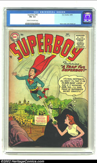 Superboy #45 (DC, 1955) CGC FN- 5.5 Cream to off-white pages. Curt Swan cover and John Sikela art. Overstreet 2002 FN 6...