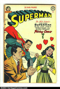 Superman #67 (DC, 1950) VG- 3.5 Tan pages. Here is the classic Perry Como cover with Perry putting the moves on Lois and...