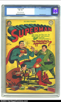 Superman #69 (DC, 1951) CGC VG- 3.5 Cream to off-white pages. Superman allows the Prankster and his new apprentice to te...
