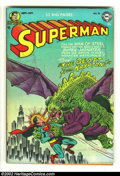 Golden Age (1938-1955):Superhero, Superman #78 (DC, 1952) Condition: FN+. Jumping on the horror bandwagon, this is about as graphic as a Superman cover ever b...