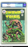Bronze Age (1970-1979):Horror, Swamp Thing #10 (DC, 1974) CGC VF/NM 9.0 Off-white pages. Len Weinprovides the story for Bernie Wrightson's final issue of ...