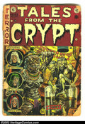 Golden Age (1938-1955):Horror, Tales From the Crypt #33 (EC, 1952) Condition: FR. Origin the CryptKeeper. Overstreet 2002 GD 2.0 value = $59....