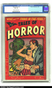 Tales of Horror #2 (Toby Publishing, 1952) CGC VF- 7.5 Cream to off-white pages. Myron Fass cover and art; torture scene...