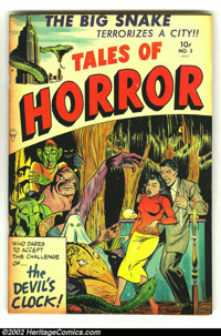 Tales of Horror #3 (Toby Publishing, 1952) Condition: VF. Fantastic horror book in beautiful condition. Overstreet 2002...