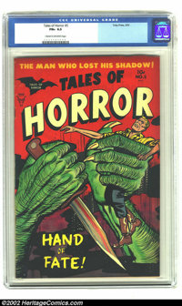 Tales of Horror #5 (Toby Publishing, 1953) CGC FN+ 6.5 Cream to off-white pages. Overstreet 2002 FN 6.0 value = $66. Fro...