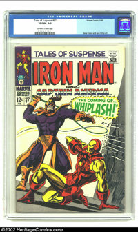 Tales of Suspense #97 (Marvel, 1968) CGC VF/NM 9.0 Off-white to White pages. First appearance of Whiplash. Gene Colan an...