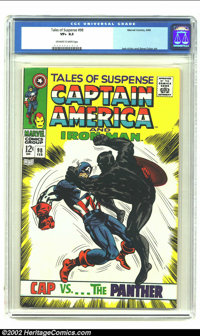 Tales of Suspense #98 (Marvel, 1968) CGC VF+ 8.5 Off-white to White pages. Captain America tussles with the Black Panthe...
