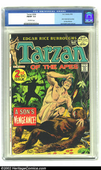 Tarzan of the Apes (DC) #208 (DC, 1972) CGC FN/VF 7.0 Off-white pages. Joe Kubert depicts Tarzan cradling the body of an...