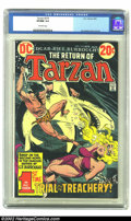Bronze Age (1970-1979):Miscellaneous, Tarzan of the Apes (DC) #219 (DC, 1973).CGC VF/NM Off-white pagesJoe Kubert does the full art chores on this issue. Overstr...